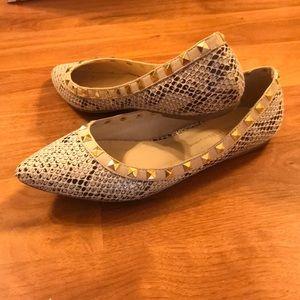 Wild Diva Rattlesnake Studded Flats